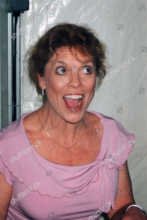 Erin Moran Pictured at a Fan Convention in New Jersey On March 2004