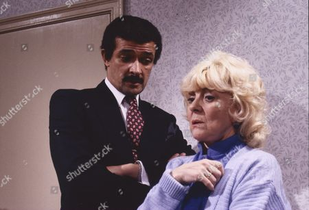 Tony Osoba (as Peter Ingram) and Lynne Perrie (as Ivy Brennan)