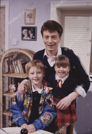 Warren Jackson (as Nicky Tilsley), Sean Wilson (as Martin Platt) and Lynsay King (as Sarah Tilsley)