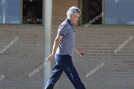 Former president of the Spanish Football Federation, Angel Maria Villar, leaves Soto del Real prison after paying bails of 300,000 and 150,000 euros, respectively, in Madrid, Spain, 01 August 2017. Angel Maria Villar and his son were arrested las 18 July and imprisoned as part of the so-called 'Soule' anti-corruption investigation.