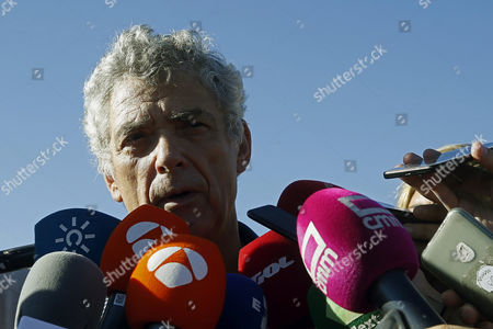 Former president of the Spanish Football Federation, Angel Maria Villar, addresses to the media as he leaves Soto del Real prison after paying a bail of 300,000 euros, in Madrid, Spain, 01 August 2017. Angel Maria Villar and his son were arrested las 18 July and imprisoned as part of the so-called 'Soule' anti-corruption investigation.