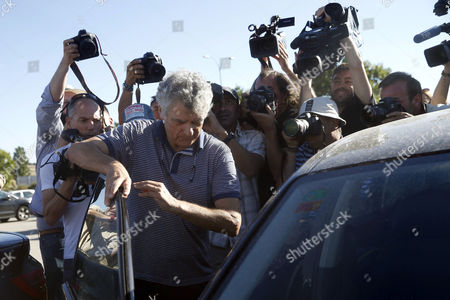 Former president of the Spanish Football Federation, Angel Maria Villar, leaves Soto del Real prison after paying a bail of 300,000 euros, in Madrid, Spain, 01 August 2017. Angel Maria Villar and his son were arrested las 18 July and imprisoned as part of the so-called 'Soule' anti-corruption investigation.