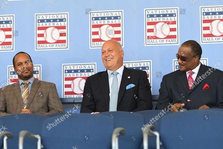 Barry Larkin, Cal Ripken Jr. and Jim Rice