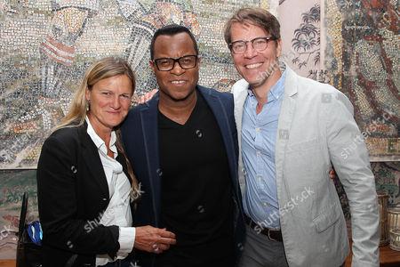 Stock Photo of Ellen Kuras, Jeffrey Fletcher and Hugo Lindgren (Exec. Prod)