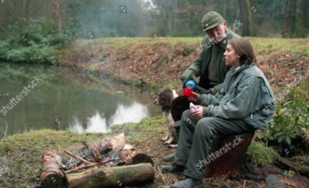 Scott has spent the night in the woods after accidentally shooting Donna with an airgun. Seth finds him and tells him that Donna is okay. He decides he wants to go ahead with his plan to go back to London - With Scott Windsor, as played by Toby Cockerell ; Seth Armstrong, as played by Stan Richards. (Ep 2050 - 1st February 1996).