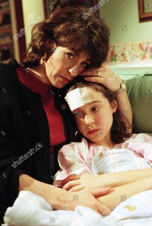 After accidentally shooting Donna with an airgun, Scott is missing and the police are at the Windsors' questioning Vic - With Viv Windsor, as played by Deena Payne ; Donna Windsor, as played by Sophie Jeffrey. (Ep 2050 - 1st February 1996).