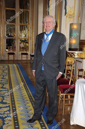 Stock Picture of Claude Rich Legion of Honour award, Paris, France