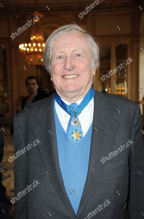 Stock Image of Claude Rich Legion of Honour award, Paris, France