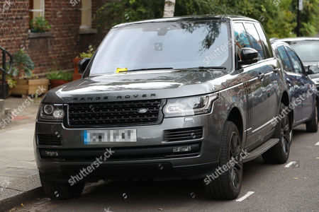 Parking ticket on the car of James Haskell and Chloe Madeley as they visit Primrose Hill for breakfast