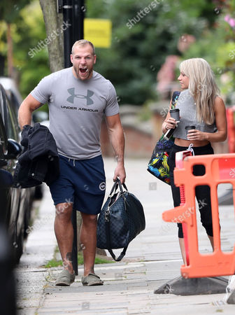 James Haskell and Chloe Madeley in Primrose Hill for breakfast