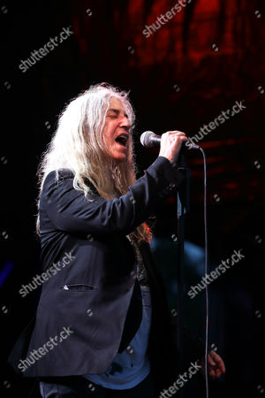 Editorial image of Patti Smith at the concert at Burg Herzberg Festival, Breitenbach, Germany - 30 Jul 2017