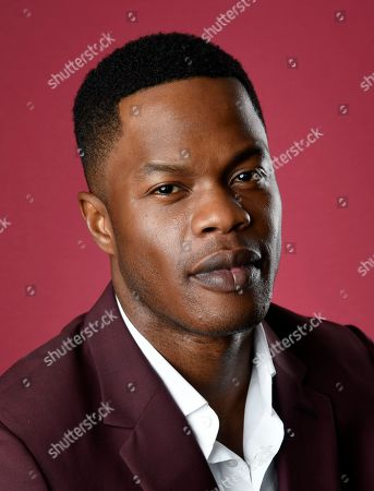 "Stock Image of Sam Adegoke, a cast member in the CW series ""Dynasty,"" poses for a portrait during the 2017 Television Critics Association Summer Press Tour at the Beverly Hilton, in Beverly Hills, Calif"