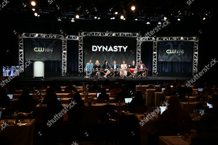 Stock Photo of Josh Schwartz, Executive Producer, Stephanie Savage, Executive Producer, Sallie Patrick, Executive Producer, Grant Show, Nathalie Kelley, Elizabeth Gillies, Sam Adegoke