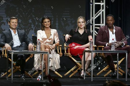 Stock Picture of Grant Show, Nathalie Kelley, Elizabeth Gillies, Sam Adegoke
