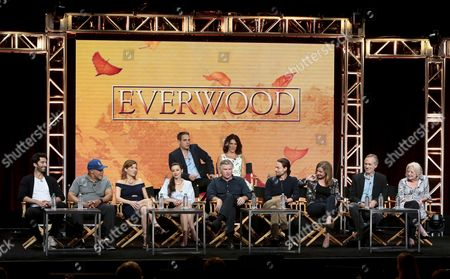 Stock Photo of Greg Berlanti, Executive Producer, Rina Mimoun, Executive Producer, Justin Baldoni, John Beasley, Stephanie Niznik, Vivien Cardone, Treat Williams, Gregory Smith, Emily VanCamp, Tom Amandes, Debra Mooney