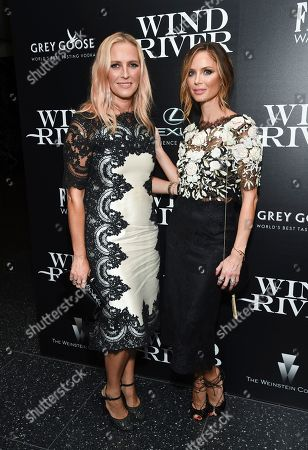"Keren Craig, Georgina Chapman Fashion designers Keren Craig, left, and Georgina Chapman attend a special screening of ""Wind River"", hosted by The Weinstein Company with The Cinema Society, at the Museum of Modern Art, in New York"