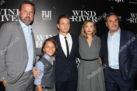 Basil Iwanyk (Producer), Teo Briones, Jeremy Renner, Elizabeth Olsen and Matthew George (Producer)