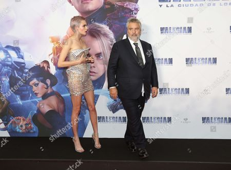 Luc Besson and Cara Delevingne