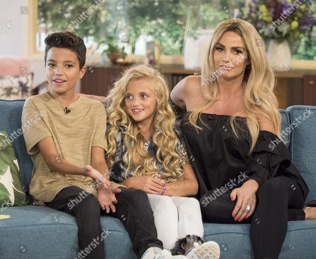 Katie Price, Princess Tiaamii and Junior Andre