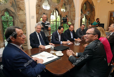 Editorial image of United Nations Special Adviser Espen Barth Eide meeting with Cyprus President, Nicosia - 03 Aug 2017