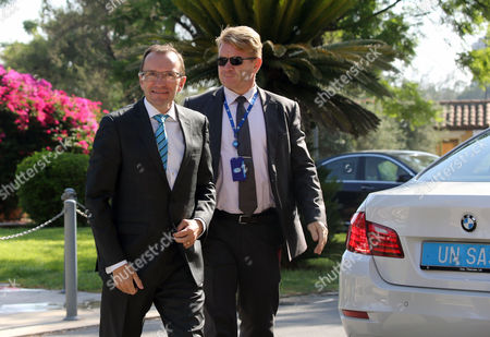 Editorial photo of United Nations Special Adviser Espen Barth Eide meeting with Cyprus President, Nicosia - 03 Aug 2017