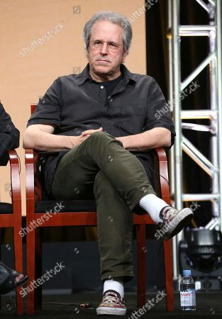 """Showrunner/executive producer Rene Balcer participates in the """"Law & Order True Crime: The Menendez Murders"""" panel during the NBC Television Critics Association Summer Press Tour at The Beverly Hilton hotel, in Beverly Hills, Calif"""