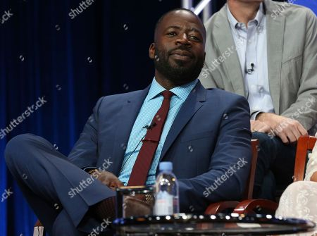 "Demetrius Grosse participates in the ""The Brave"" panel during the NBC Television Critics Association Summer Press Tour at The Beverly Hilton, in Beverly Hills, Calif"