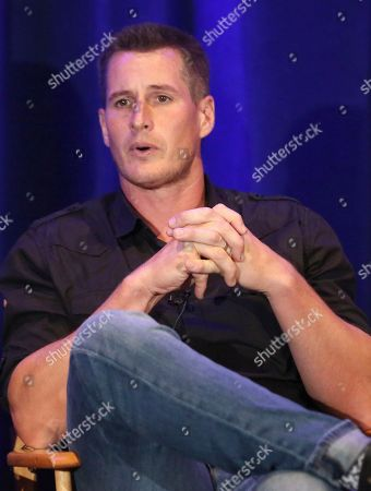 "Brendan Fehr participates in ""The Night Shift"" panel during the NBC Television Critics Association Summer Press Tour at the Beverly Hilton, in Beverly Hills, Calif"
