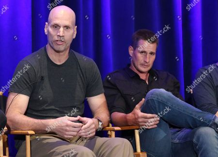 "Jeff Judah, Brendan Fehr Creator/executives producer Jeff Judah, left, and Brendan Fehr participate in ""The Night Shift"" panel during the NBC Television Critics Association Summer Press Tour at the Beverly Hilton, in Beverly Hills, Calif"