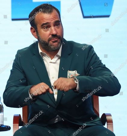 """Executive producer Shane Farley participates in the """"Steve"""" panel during the NBC Television Critics Association Summer Press Tour at the Beverly Hilton, in Beverly Hills, Calif"""