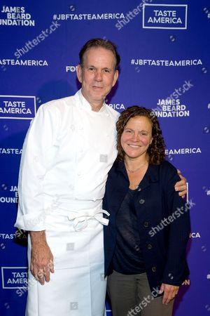 Stock Photo of Thomas Keller, Traci Des Jardins