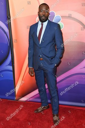 Demetrius Grosse attends the NBC Television Critics Association 2017 Summer Press Tour at the Beverly Hilton Hotel, in Beverly Hills, Calif