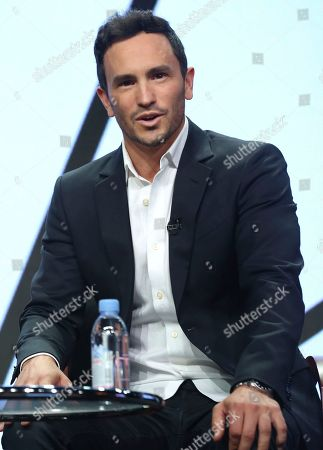 """Jeremy Bloom participates in the """"Adventure Capitalists"""" panel during the CNBC Television Critics Association Summer Press Tour at the Beverly Hilton, in Beverly Hills, Calif"""