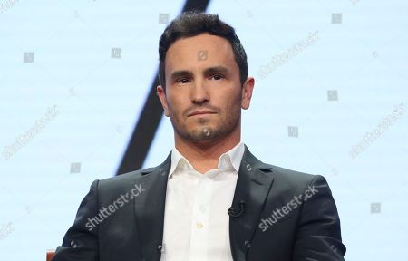 "Jeremy Bloom participates in the ""Adventure Capitalists"" panel during the CNBC Television Critics Association Summer Press Tour at the Beverly Hilton, in Beverly Hills, Calif"