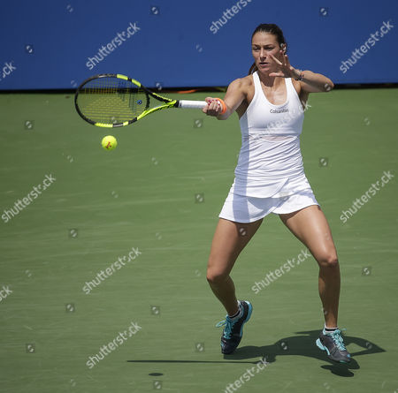Mariana Duque-Marino (COL) at the Citi Open tennis tournament being played at Rock Creek Park Tennis Center in Washington, D.C