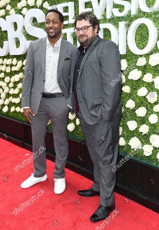 Jaleel White, Bobby Moynihan Jaleel White, left, and Bobby Moynihan attend the CBS Summer Soiree during the 2017 Summer TCA's at CBS Radford Studios, in Los Angeles