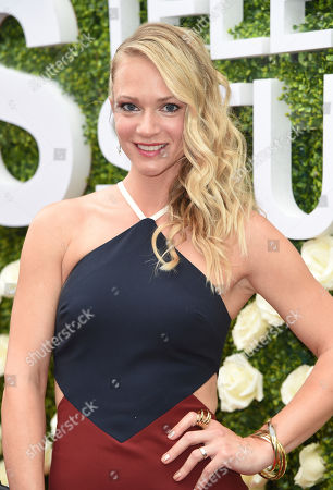 A. J. Cook attends the CBS Summer Soiree during the 2017 Summer TCA's at CBS Radford Studios, in Los Angeles