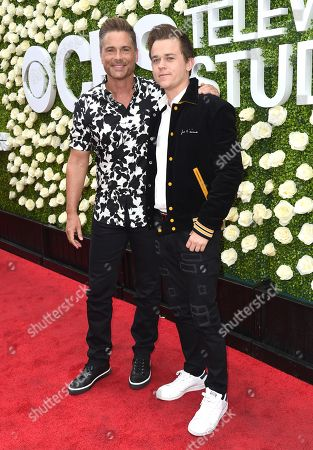 Rob Lowe, John Owen Lowe Rob Lowe, left, and John Owen Lowe attend the CBS Summer Soiree during the 2017 Summer TCA's at CBS Radford Studios, in Los Angeles