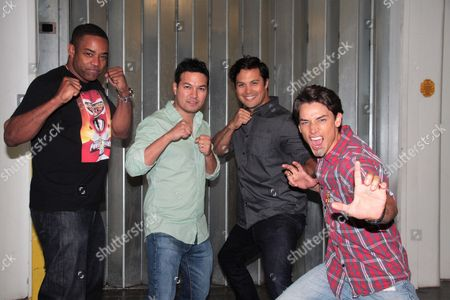 Selwyn Ward, Kevin Kleinberg, Michael Copon, Andrew Gray the Original Power Rangers