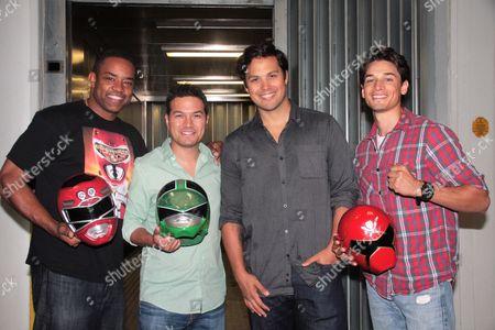Stock Photo of Selwyn Ward, Kevin Kleinberg, Michael Copon, Andrew Gray the Original Power Rangers