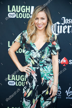 "Anjelah Johnson-Reyes poses at Kevin Hart's ""Laugh Out Loud"" new streaming video network launch event at the Goldstein Residence, in Beverly Hills, Calif"