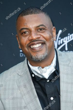 "Stock Photo of Slink Johnson from ""Dead House"" poses at Kevin Hart's ""Laugh Out Loud"" new streaming video network launch event at the Goldstein Residence, in Beverly Hills, Calif"