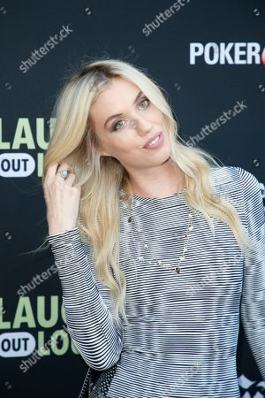 """Laura Clery from """"LOL/Hartbeat Sketch"""" poses at Kevin Hart's """"Laugh Out Loud"""" new streaming video network launch event at the Goldstein Residence, in Beverly Hills, Calif"""