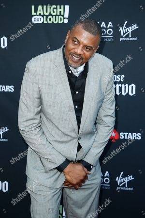 "Slink Johnson from ""Dead House"" poses at Kevin Hart's ""Laugh Out Loud"" new streaming video network launch event at the Goldstein Residence, in Beverly Hills, Calif"