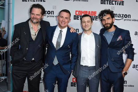 """Channing Tatum, Florin Piersic Jr., Joseph Gordon-Levitt, Cornilieu Ulici From left, Florin Piersic Jr., Channing Tatum, Joseph Gordon-Levitt and Cornilieu Ulici arrive at the Los Angeles premiere of """"Comrade Detective"""" on in Los Angeles"""