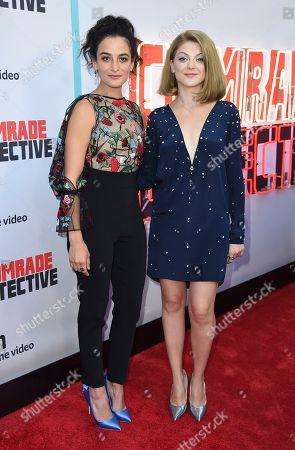 "Jenny Slate, Olivia Nita Jenny Slate and Olivia Nita arrive at the Los Angeles premiere of ""Comrade Detective"" on in Los Angeles"
