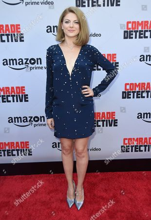 """Olivia Nita arrives at the Los Angeles premiere of """"Comrade Detective"""" on in Los Angeles"""