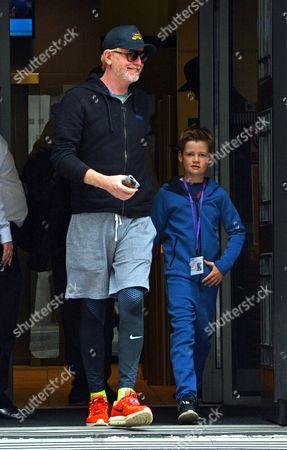 Chris Evans, Noah Nicholas Martin Evans leaving the Radio 2 studios
