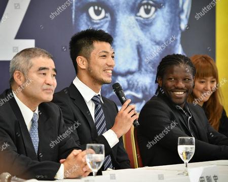 (L-R)  Tsuyoshi Hamada, Ryota Murata, Hassan N'Dam N'Jikam