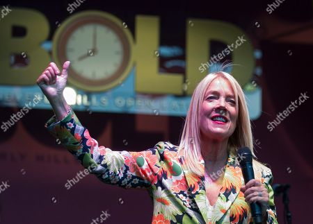 Beverly Hills' Mayor Lili Bosse kicks off BOLD, a month-long celebration happening Thursday, Friday, and Saturday nights throughout the month of August in the city,, in Beverly Hills, Calif